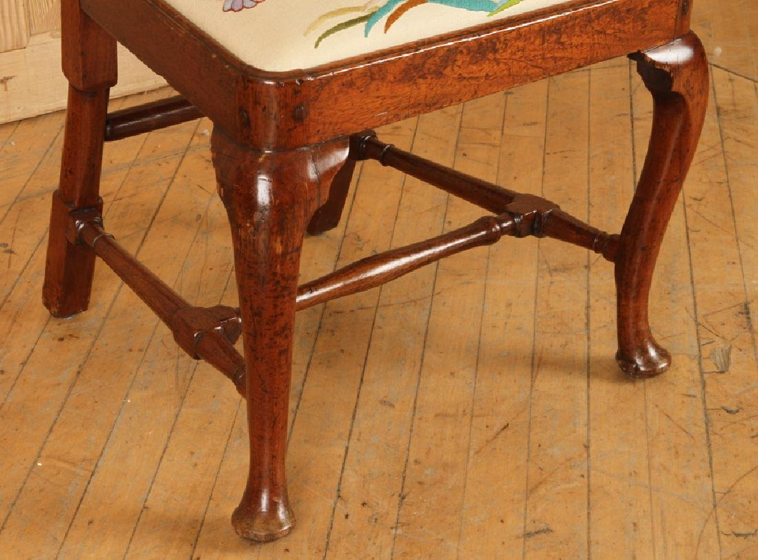 PAIR 18TH C. WALNUT QUEEN ANNE STYLE SIDE CHAIRS - 6