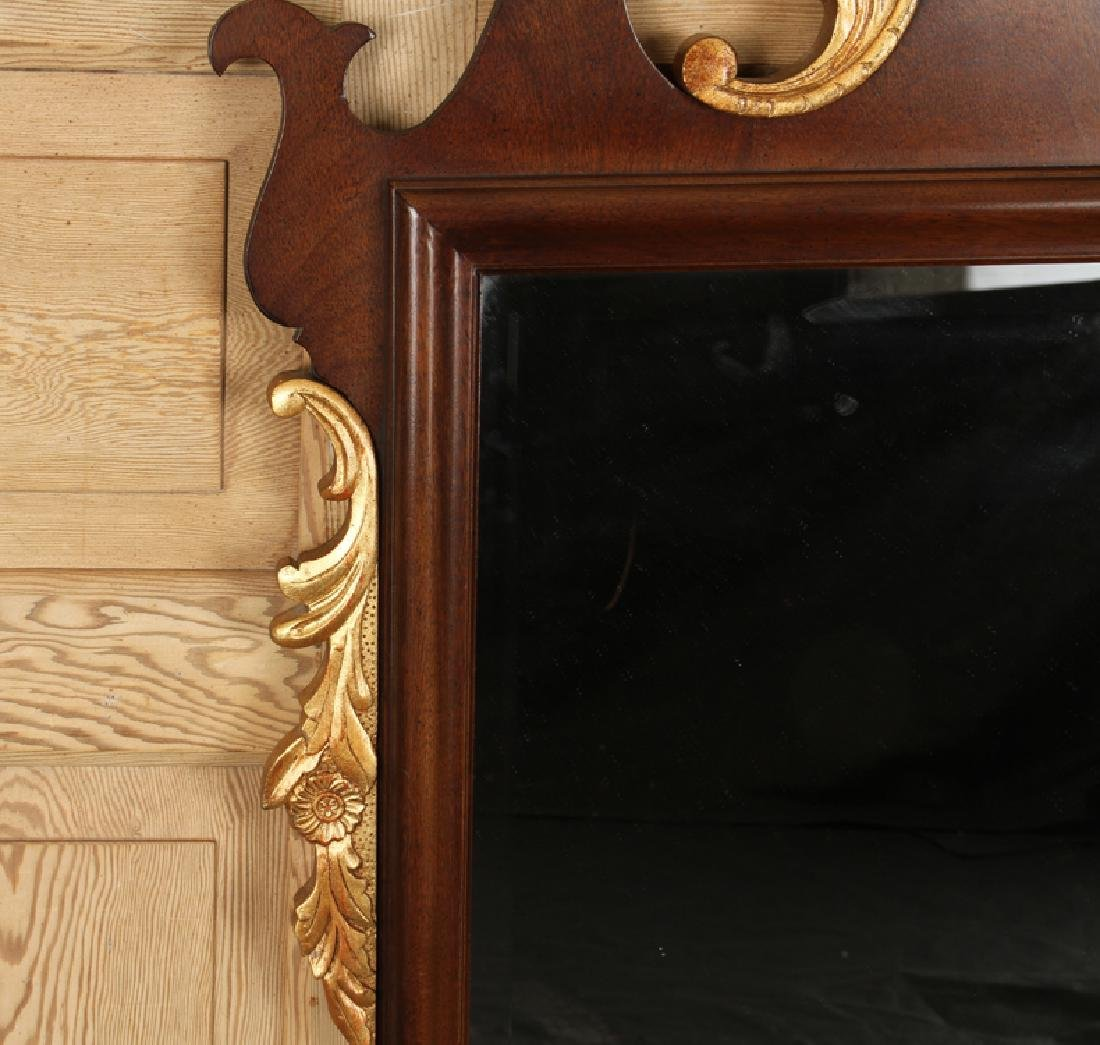 CHIPPENDALE STYLE MAHOGANY MIRROR CARVED BEVELED - 3