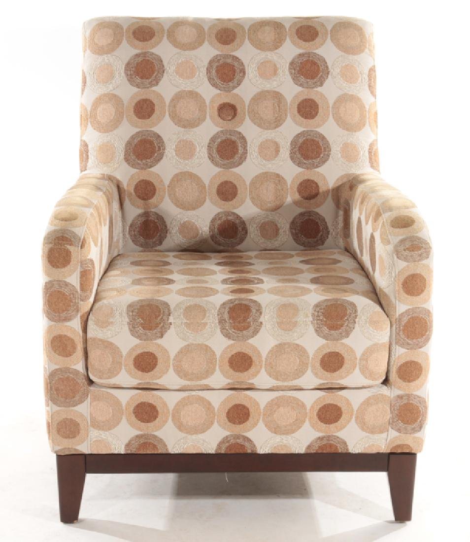 PAIR CONTEMPORARY UPHOLSTERED CLUB CHAIRS - 3