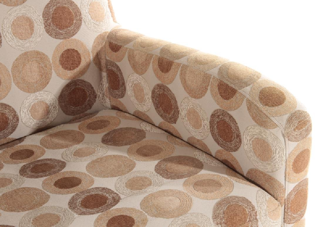 PAIR CONTEMPORARY UPHOLSTERED CLUB CHAIRS - 5