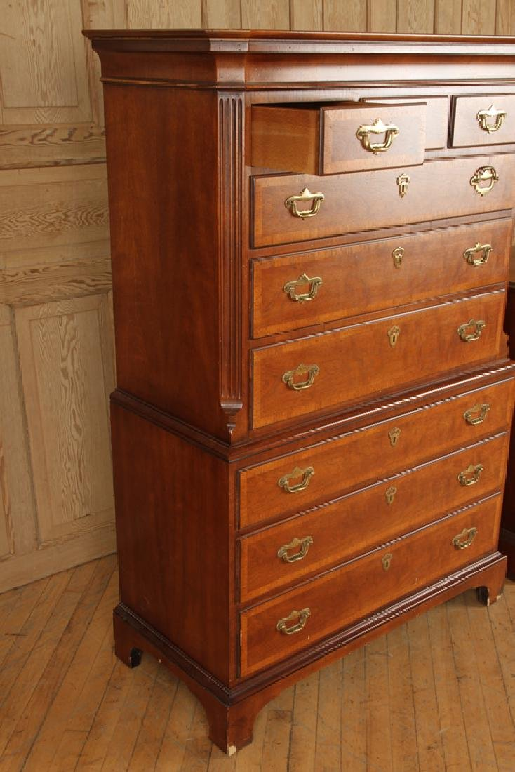 MAHOGANY CHEST ON CHEST & BACHELORS CHEST BAKER - 3