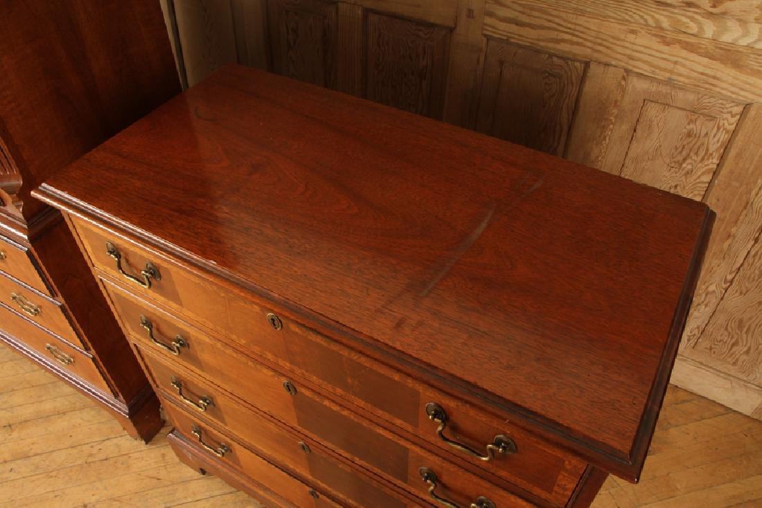 MAHOGANY CHEST ON CHEST & BACHELORS CHEST BAKER - 4