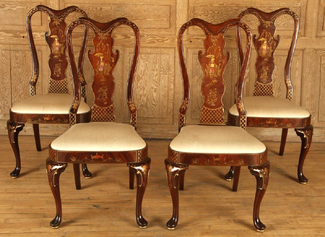 SET 4 QUEEN ANNE STYLE SIDE CHAIRS BY CENTURY