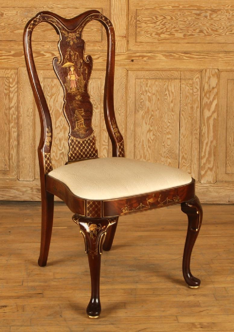SET 4 QUEEN ANNE STYLE SIDE CHAIRS BY CENTURY - 2