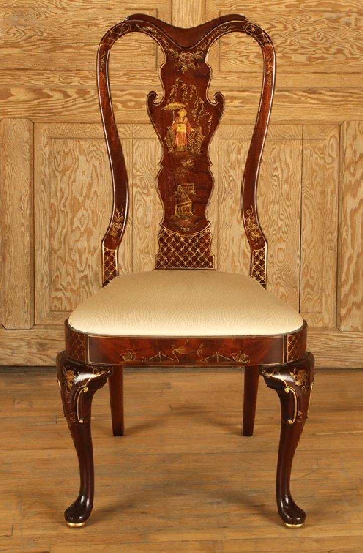 SET 4 QUEEN ANNE STYLE SIDE CHAIRS BY CENTURY - 3