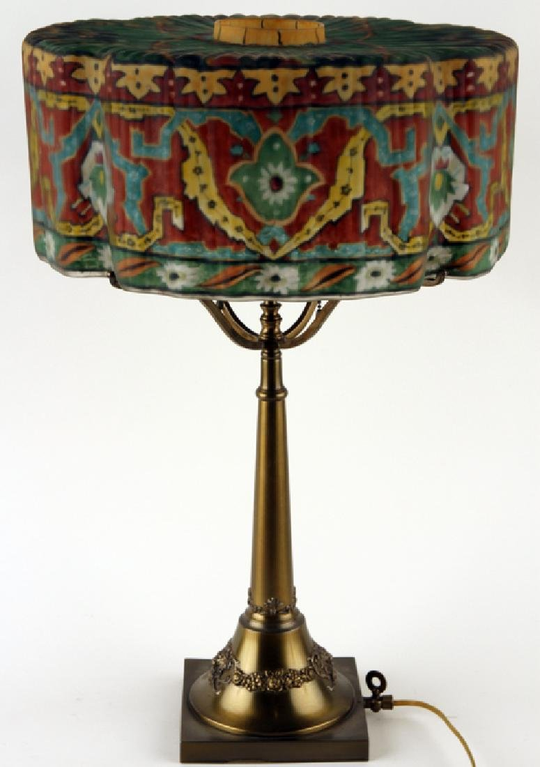 AMERICAN PAIRPOINT TWO LIGHT TABLE LAMP MARKED