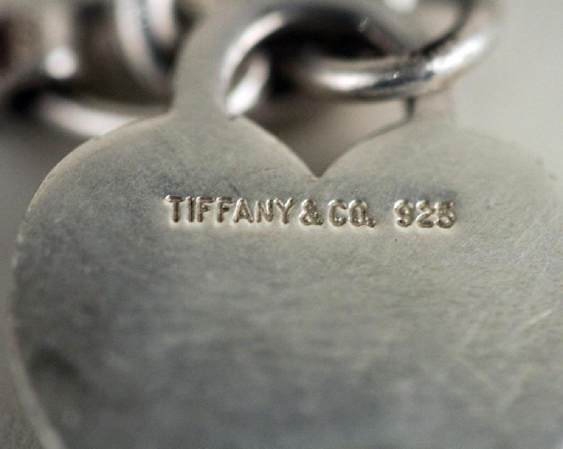 TIFFFANY STERLING SILVER HEART BRACELET - 4