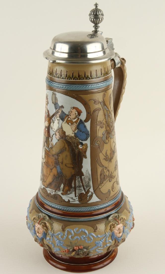 GERMAN METTLACH BEER STEIN #1818 MARKED