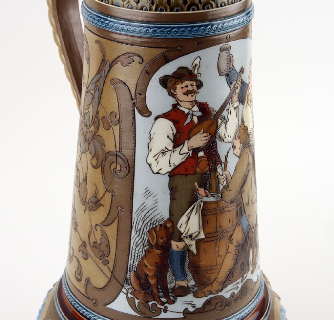 GERMAN METTLACH BEER STEIN #1818 MARKED - 3