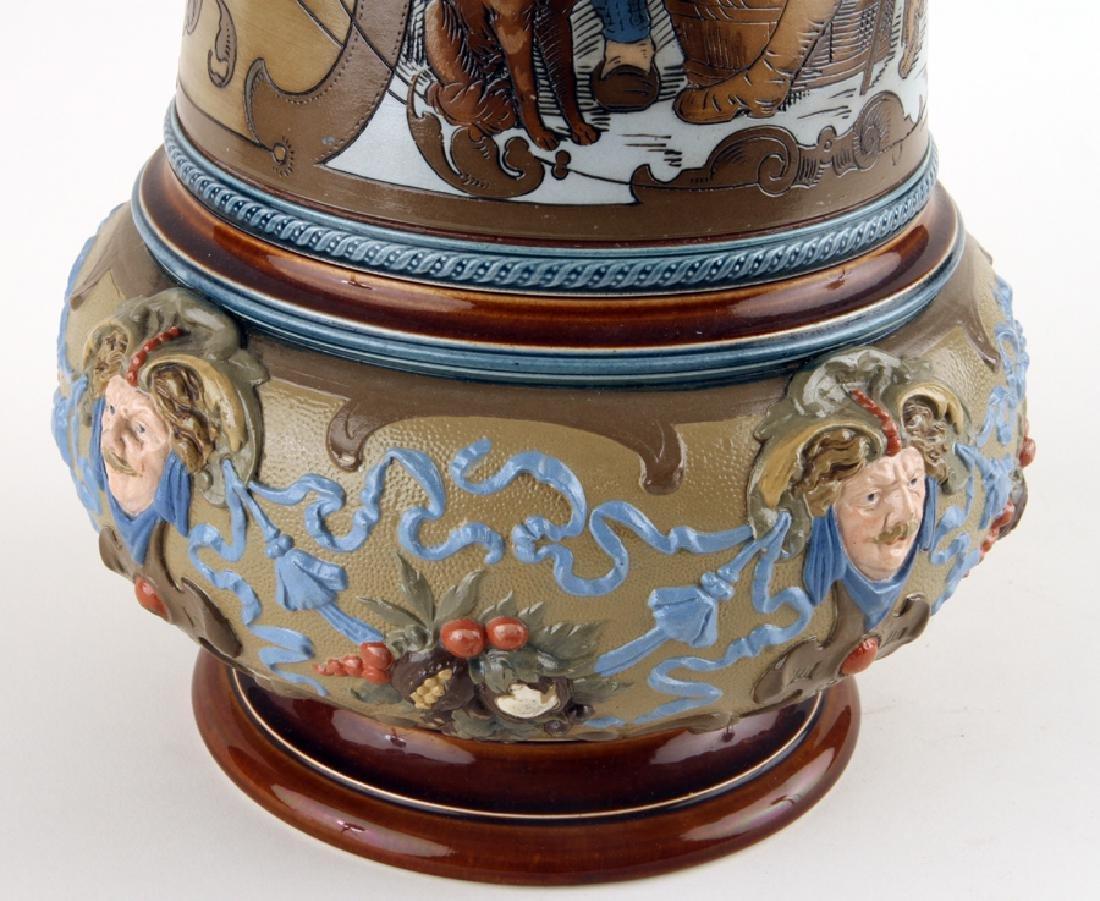 GERMAN METTLACH BEER STEIN #1818 MARKED - 4