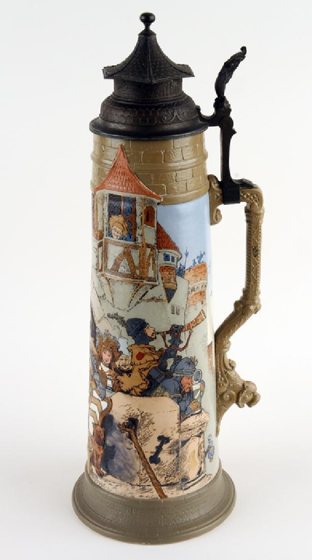 GERMAN METTLACH BEER STEIN #2524 DIE KANNENBURG