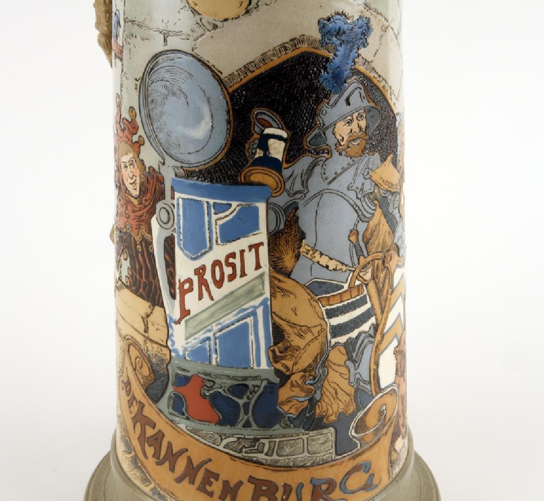 GERMAN METTLACH BEER STEIN #2524 DIE KANNENBURG - 3