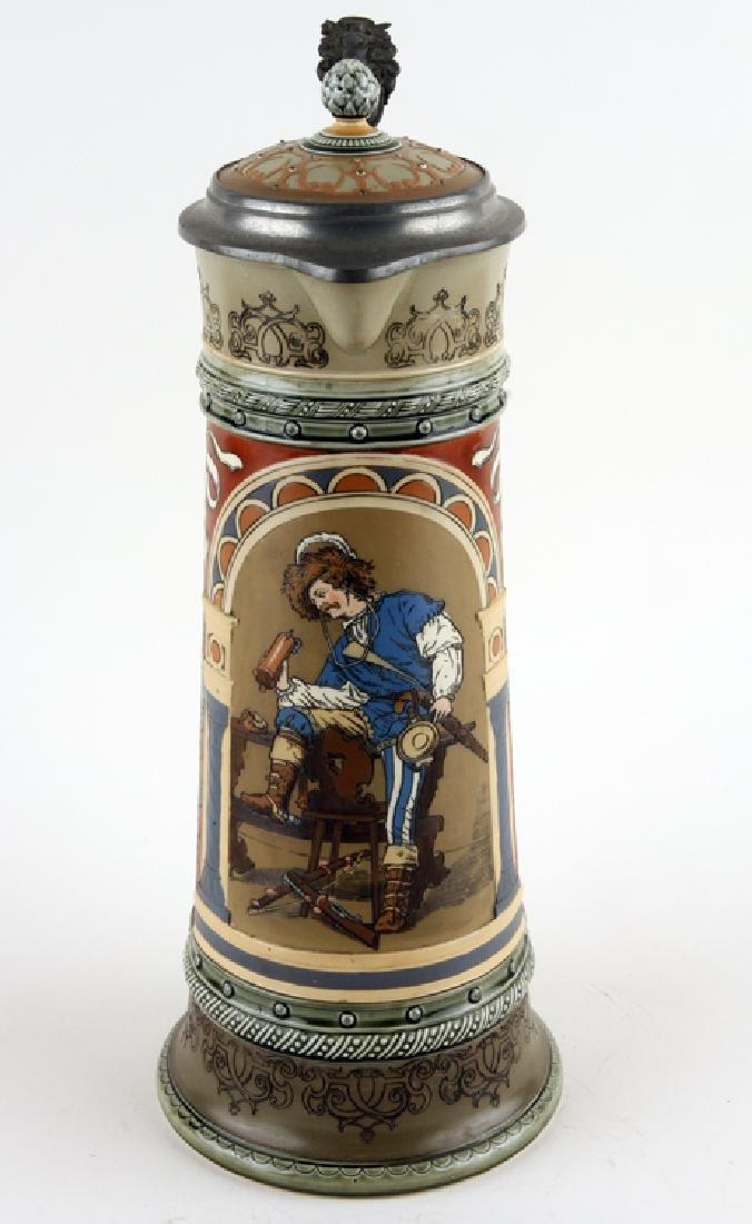 GERMAN METTLACH BEER STEIN #2430 GERMAN DRINKER