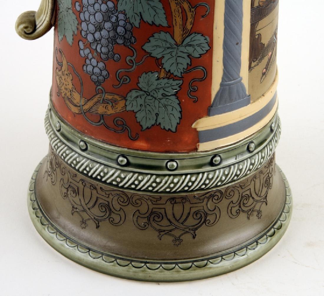 GERMAN METTLACH BEER STEIN #2430 GERMAN DRINKER - 4