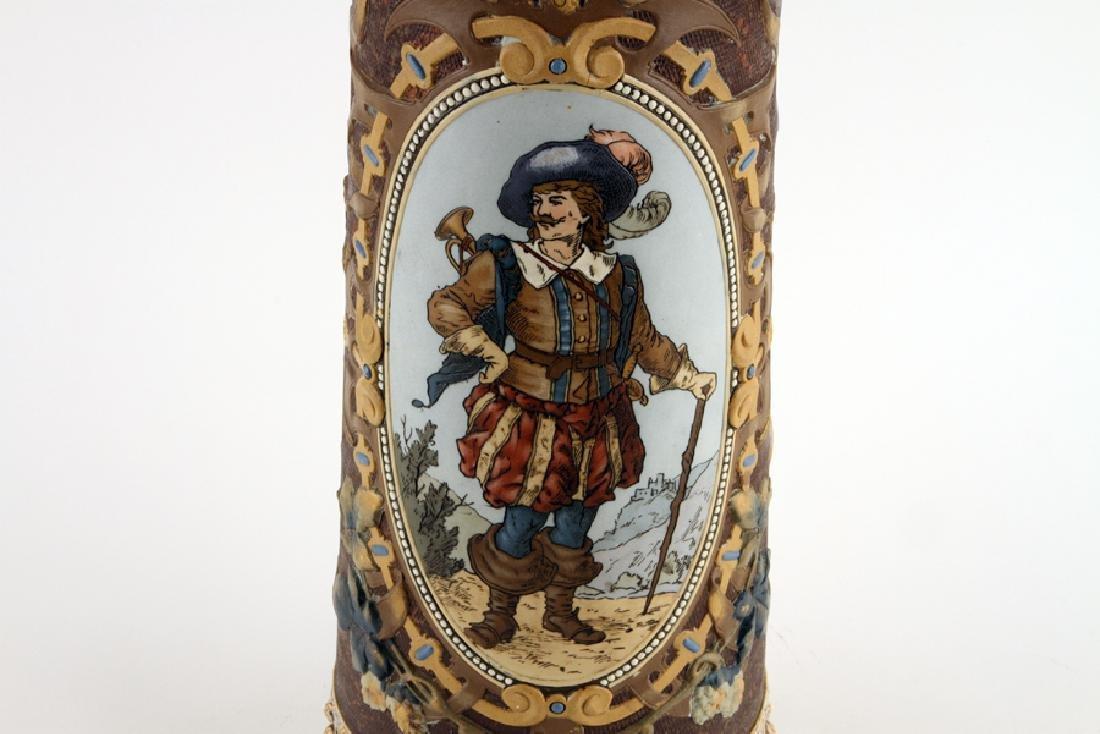 GERMAN METTLACH BEER STEIN #1562 TRUMPETER 5.65L - 3