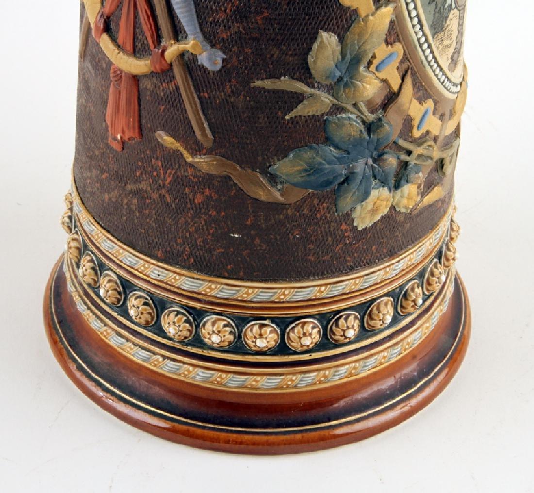 GERMAN METTLACH BEER STEIN #1562 TRUMPETER 5.65L - 4