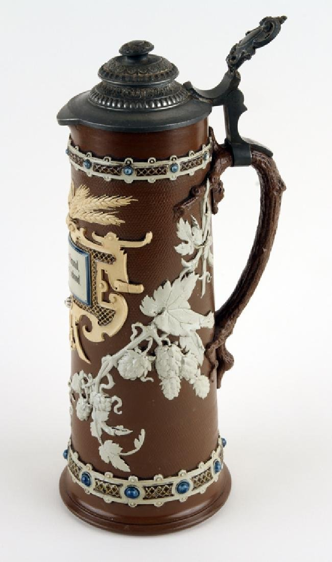 GERMAN METTLACH BEER STEIN #1737 HOPS AND BARLEY - 2