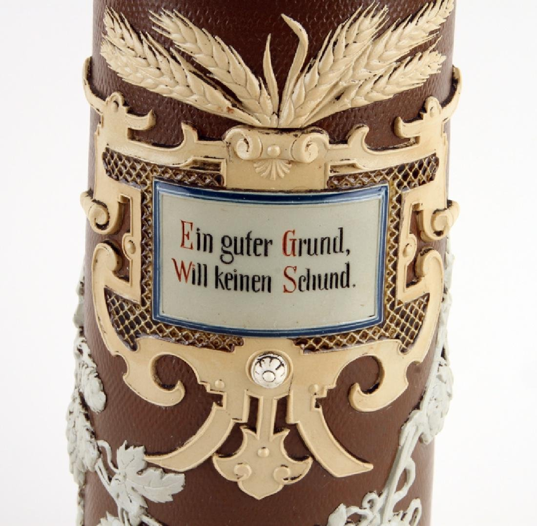 GERMAN METTLACH BEER STEIN #1737 HOPS AND BARLEY - 4