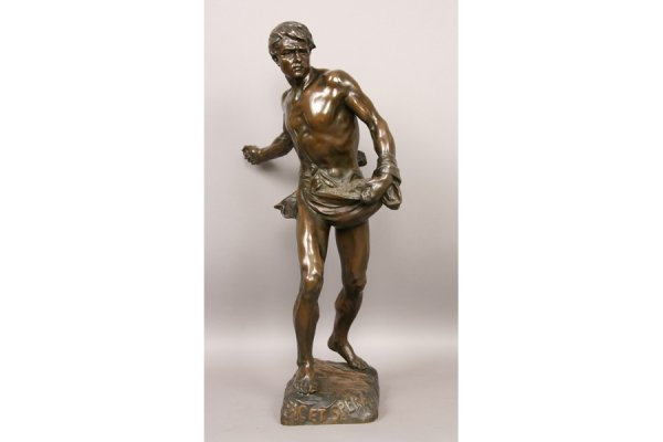 5: 5: Antique French bronze signed H.Gauquie