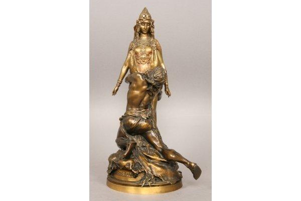 7: 7: Theodore Riviere antqiue French bronze