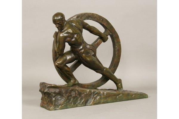 9: 9: Bronze Statue Pierre LeFaguays (Fr. 1892-1925)