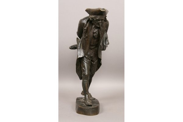 14: 14: Angtique bronze statue music French
