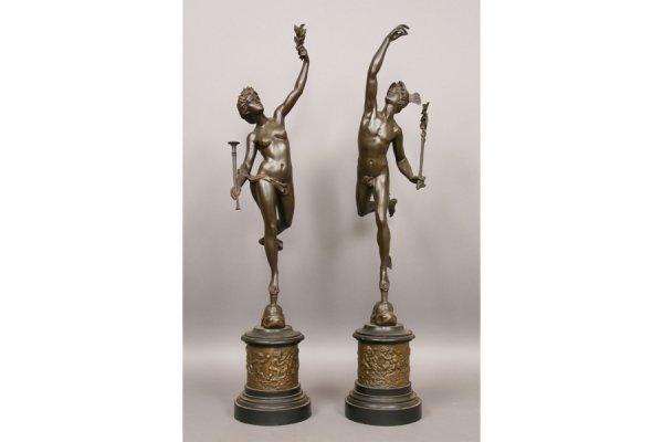 15: 15: Bronze statue figures of Mercury Venus
