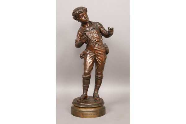 17: 17: Antique French bronze signed Carlier