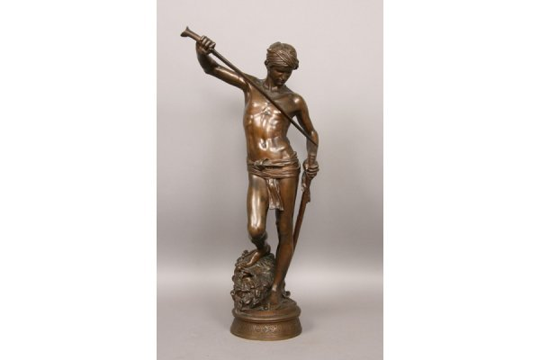 18: 18: Antique French bronze signed A. Mercie