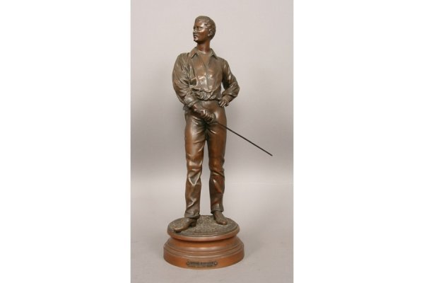 19: 19: Sculpture male fencing Charles Masse French