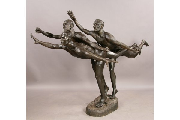 21: 21: Large scale bronze figural group