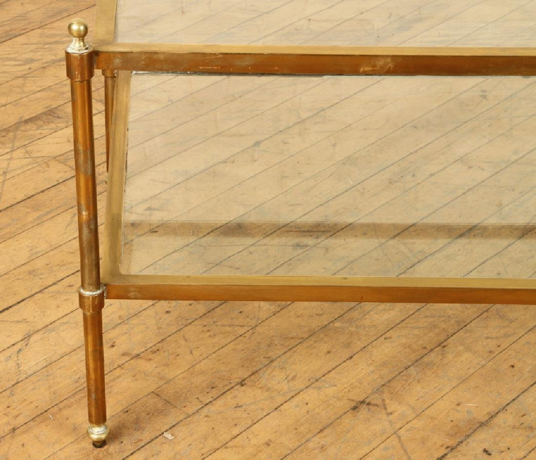 TWO TIER BRASS GLASS COFFEE TABLE MANNER JANSEN - 4