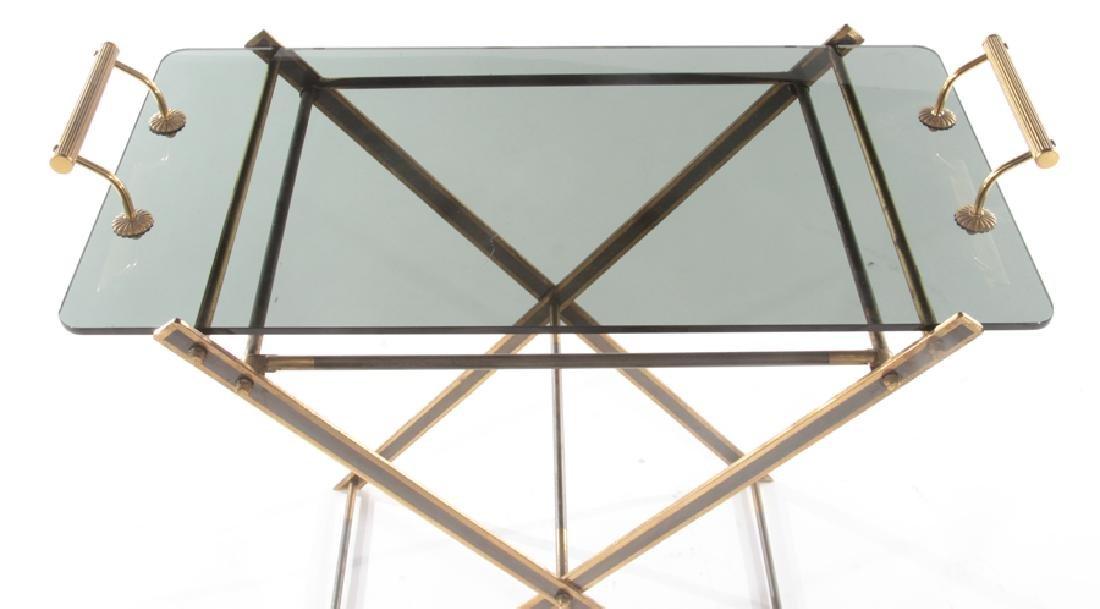 BRONZE GLASS SERVING TRAY SMOKED GLASS C.1940 - 3