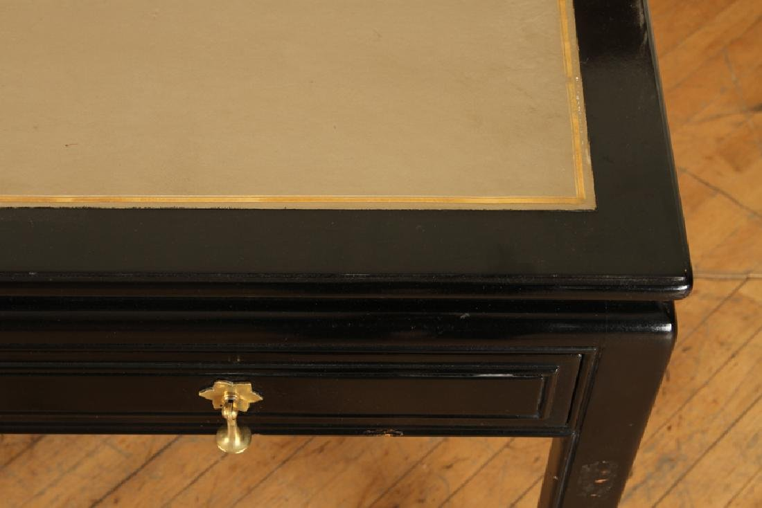 LEATHER TOP WRITING DESK MANNER OF JAMES MONT - 4