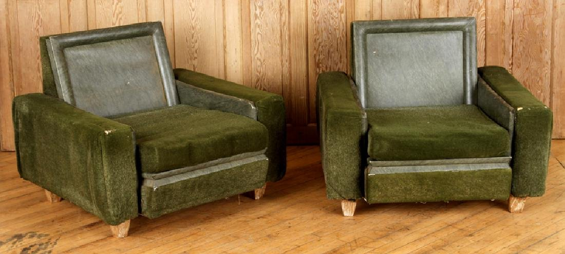 PAIR CLUB CHAIRS IN THE MANNER OF JACQUES ADNET