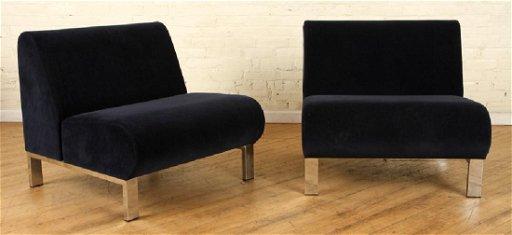 Cool Pair Mid Century Modern Club Chairs Velvet Chrome Dailytribune Chair Design For Home Dailytribuneorg