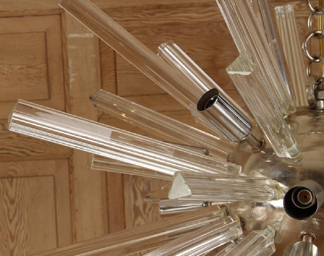 A MURANO GLASS SPUTNIK SYLE CHANDELIER - 3