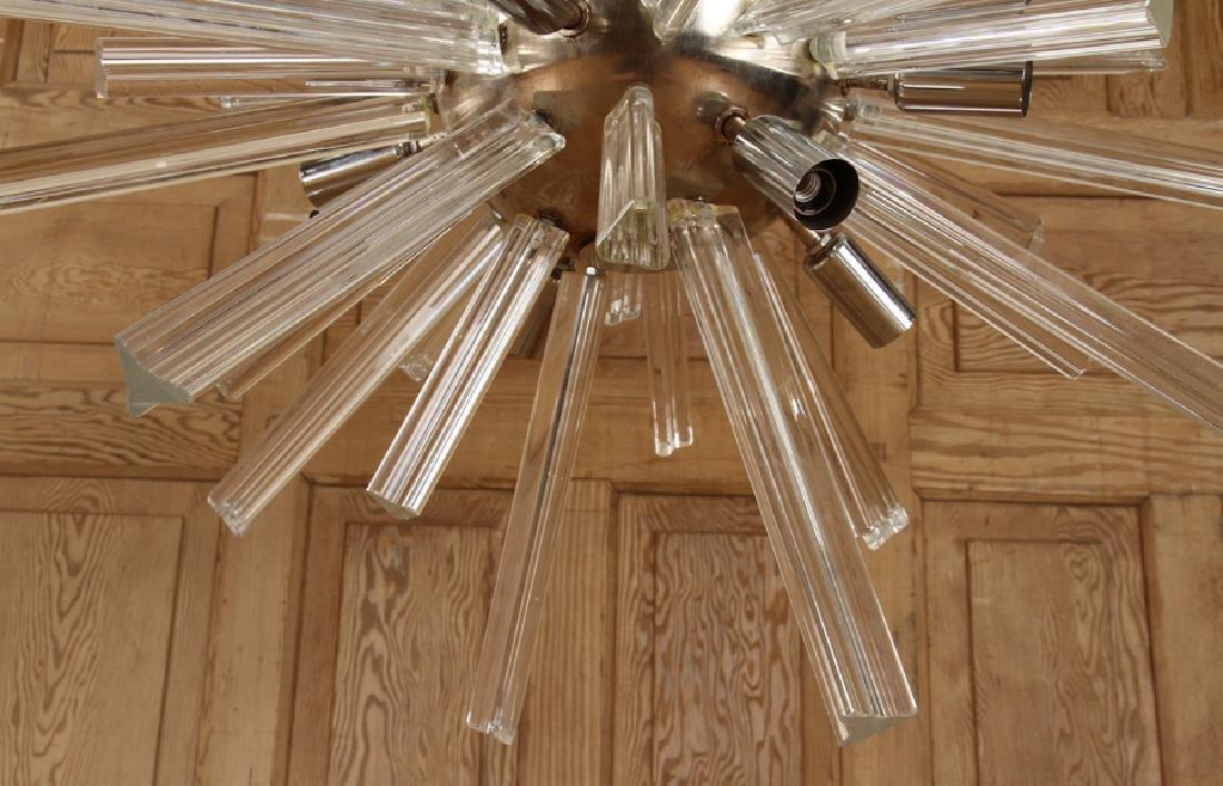 A MURANO GLASS SPUTNIK SYLE CHANDELIER - 4