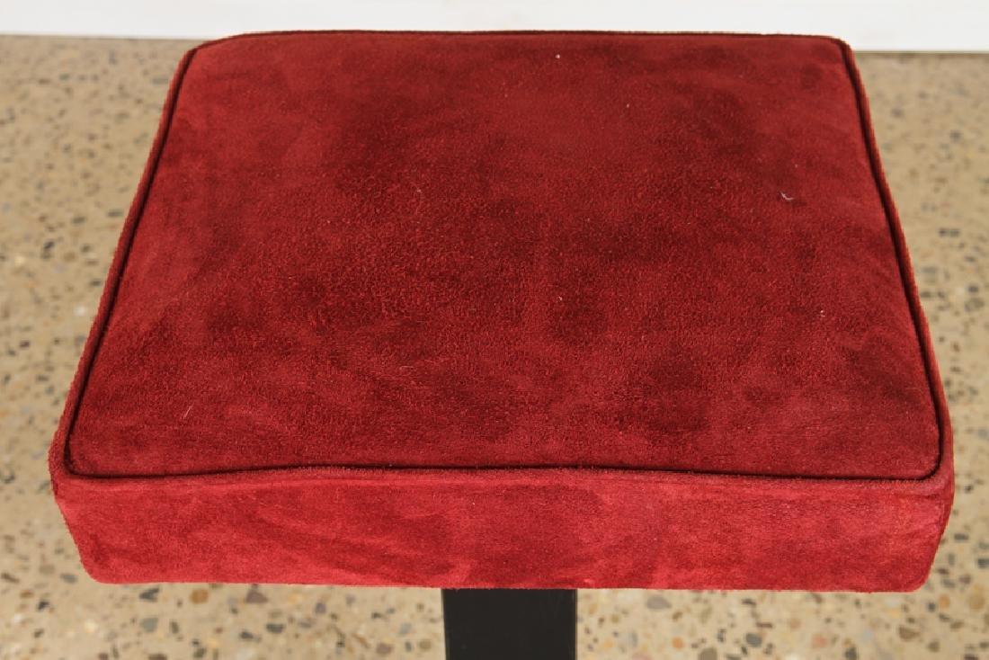 SET 3 ITALIAN IRON BAR STOOLS UPHOLSTERED SEAT - 3
