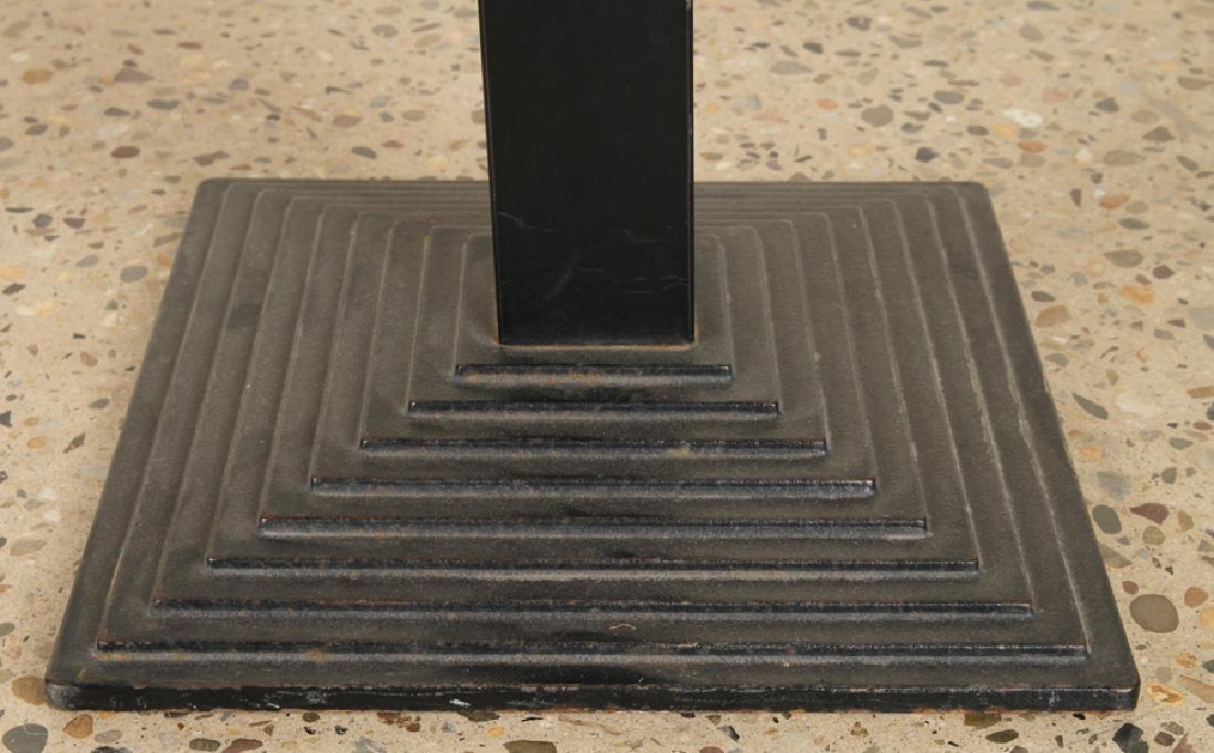 SET 3 ITALIAN IRON BAR STOOLS UPHOLSTERED SEAT - 4