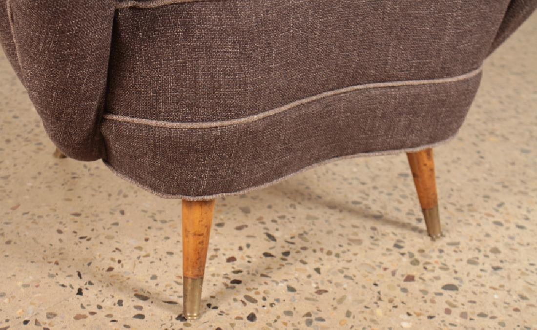 PAIR MID CENTURY MODERN UPHOLSTERED CLUB CHAIRS - 5