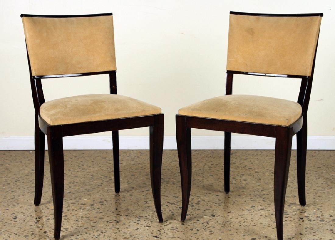 PAIR OF ART DECO SIDE CHAIRS UPHOLSTERED