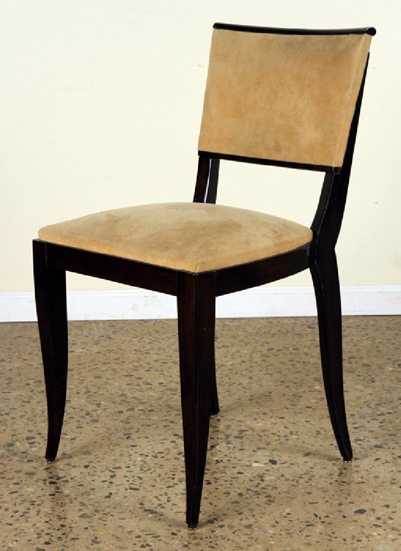 PAIR OF ART DECO SIDE CHAIRS UPHOLSTERED - 2