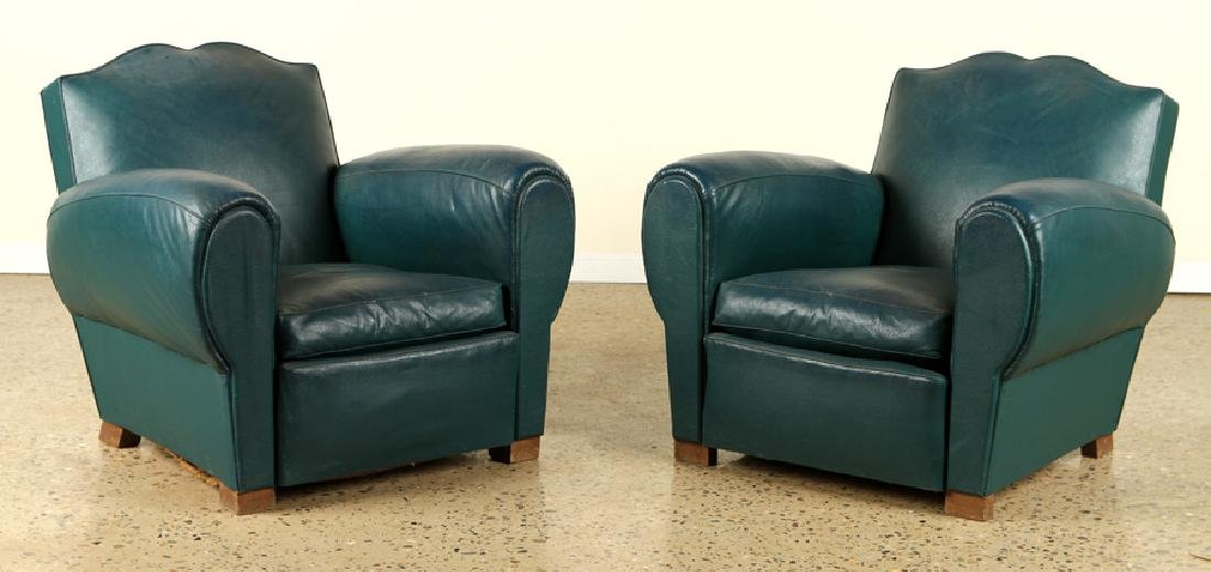 PAIR FRENCH ART DECO STYLE CLUB CHAIRS C.1940