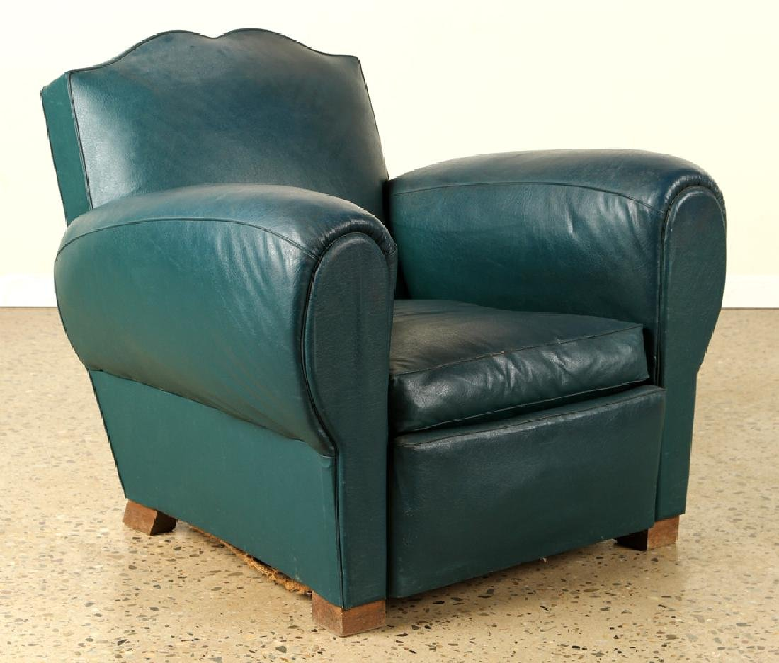 PAIR FRENCH ART DECO STYLE CLUB CHAIRS C.1940 - 2