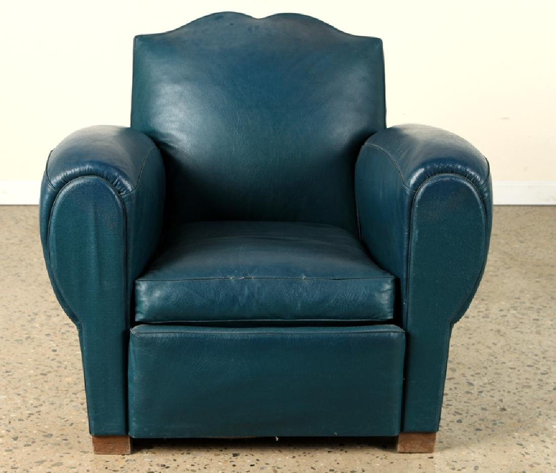 PAIR FRENCH ART DECO STYLE CLUB CHAIRS C.1940 - 3