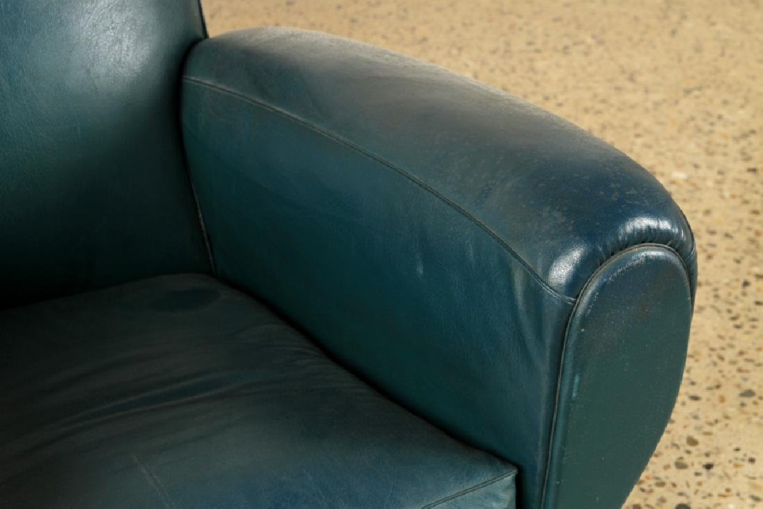 PAIR FRENCH ART DECO STYLE CLUB CHAIRS C.1940 - 4