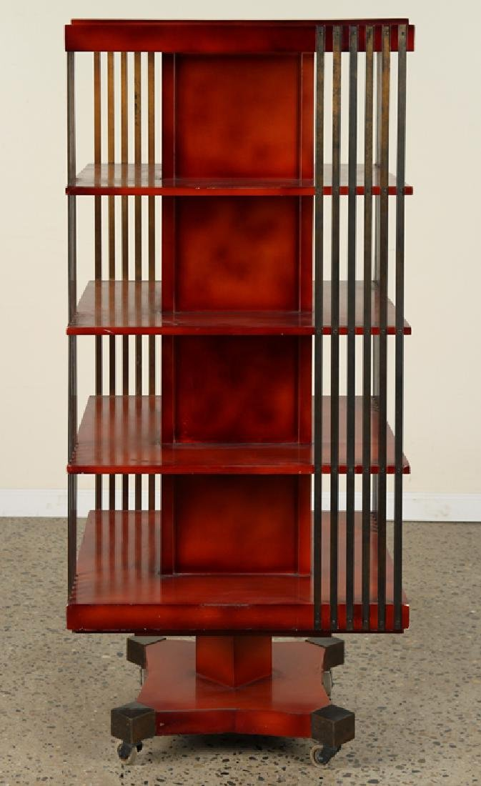 FRENCH REVOLVING BOOKCASE ATTR. TO MAISON JANSEN - 2
