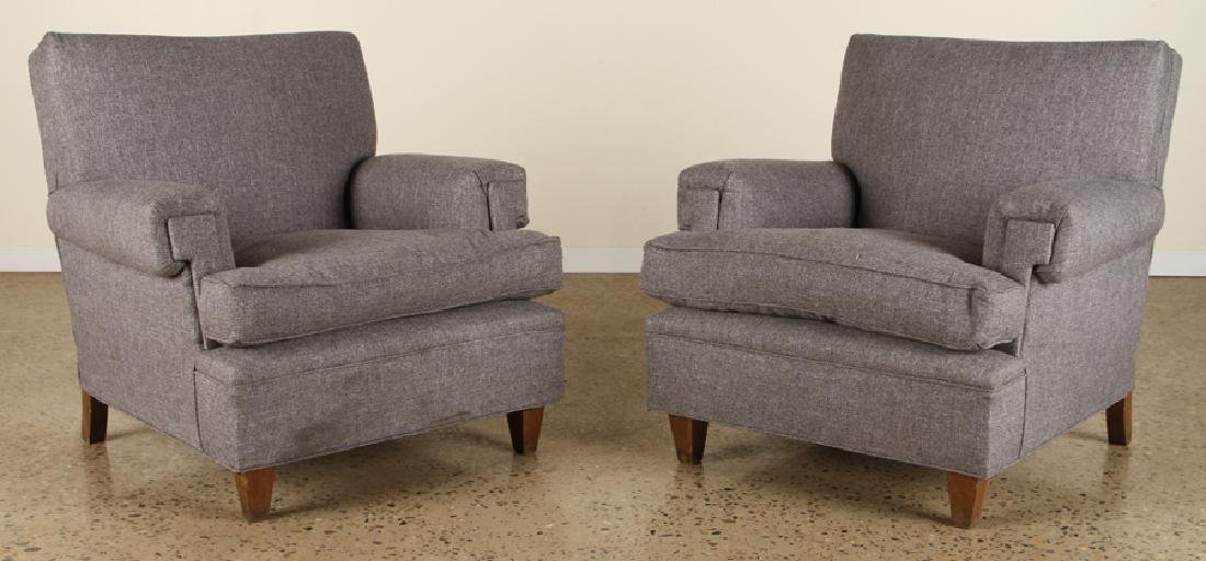 PAIR FRENCH CLUB CHAIRS MANNER JACQUES ADNET 1950