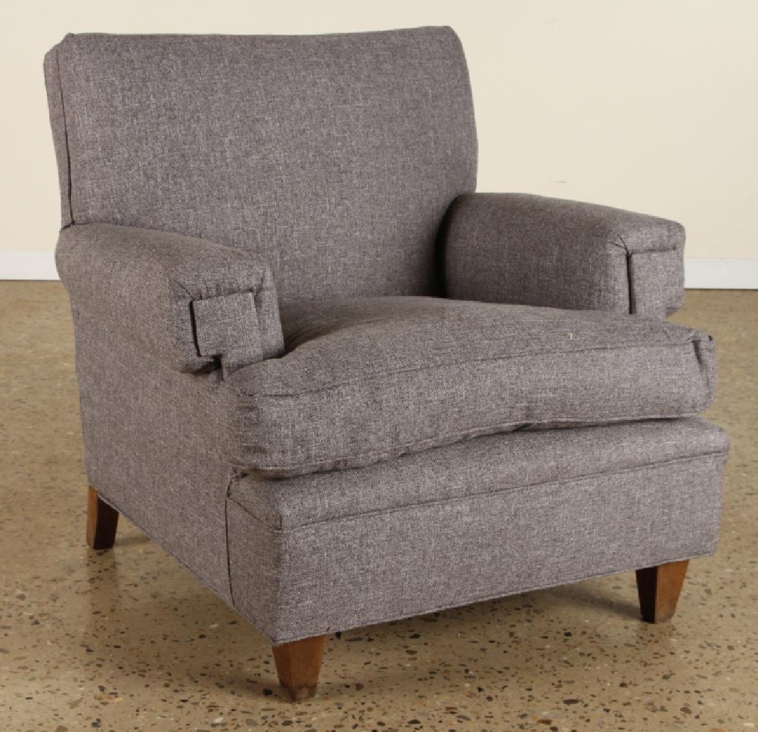 PAIR FRENCH CLUB CHAIRS MANNER JACQUES ADNET 1950 - 2